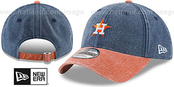 Astros GW RUGGED CANVAS STRAPBACK Navy-Orange Hat by New Era