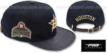 Astros METALLIC POP STRAPBACK Black Hat by Pro Standard