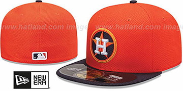 Astros 'MLB DIAMOND ERA' 59FIFTY Orange-Navy BP Hat by New Era