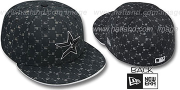 Astros 'MLB FLOCKING' Black Fitted Hat by New Era