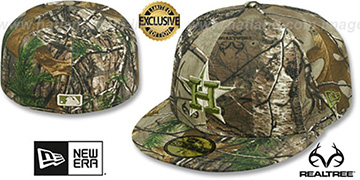 Astros 'MLB TEAM-BASIC' Realtree Camo Fitted Hat by New Era