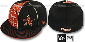 Astros 'MULTIPLY' Black-Brick Fitted Hat by New Era