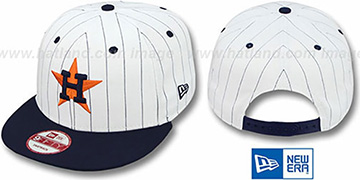 Astros 'PINSTRIPE BITD SNAPBACK' White-Navy Hat by New Era