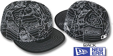 Astros 'PUFFY REMIX' Black-White Fitted Hat by New Era