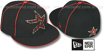 Astros REPEAT BIG-ONE Black Fitted Hat by New Era