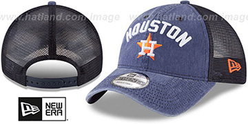 Astros 'RUGGED-TEAM TRUCKER SNAPBACK' Navy Hat by New Era