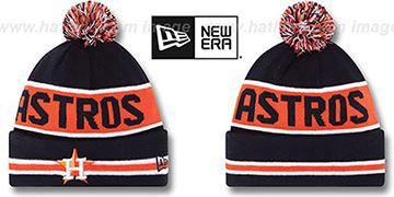 Astros 'THE-COACH' Navy Knit Beanie Hat by New Era