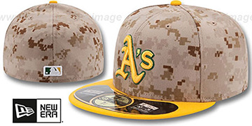 Athletics '2014 STARS N STRIPES' Fitted Hat by New Era