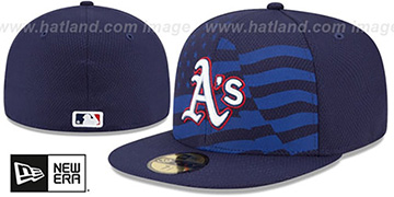 Athletics '2015 JULY 4TH STARS N STRIPES' Hat by New Era