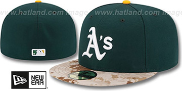 Athletics 2015 STARS N STRIPES Fitted Hat by New Era