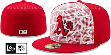 Athletics 2016 JULY 4TH STARS N STRIPES Fitted Hat by New Era
