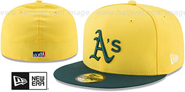 Athletics '2017 MLB LITTLE-LEAGUE' Yellow-Green Fitted Hat by New Era