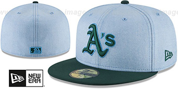 Athletics 2018 FATHERS DAY Sky-Green Fitted Hat by New Era