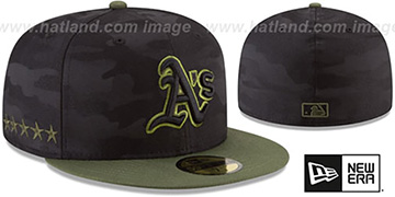 Athletics 2018 MEMORIAL DAY 'STARS N STRIPES' Hat by New Era