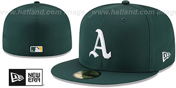 Athletics '2018 PROLIGHT-BP' Green Fitted Hat by New Era