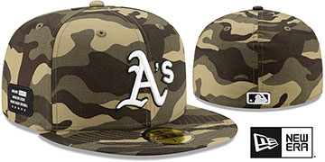 Athletics 2021 ARMED FORCES STARS N STRIPES Hat by New Era
