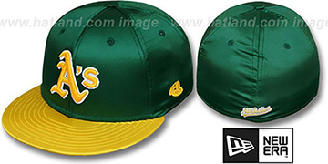 Athletics '2T SATIN CLASSIC' Green-Gold Fitted Hat by New Era