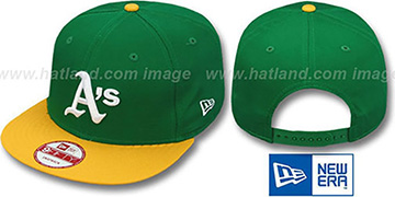 Athletics BITD SNAPBACK Green-Gold Hat by New Era