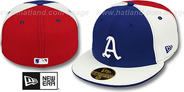 Athletics COOP PINWHEEL Royal-White-Red Fitted Hat by New Era