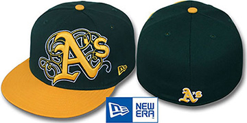 Athletics 'DUBCHA' Green-Gold Fitted Hat by New Era