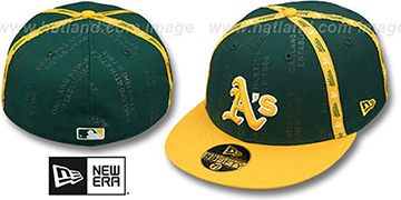 Athletics 'GELLIN' Green-Gold Fitted Hat by New Era