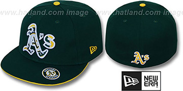 Athletics 'INSIDER BIG-ONE' Green Fitted Hat by New Era