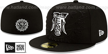 Athletics 'LOGO ELEMENTS' Black-White Fitted Hat by New Era