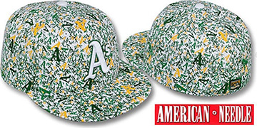 Athletics 'MATISE' White-Team Color Fitted Hat by American Needle