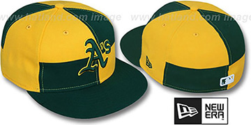 Athletics 'MIXER' Green-Gold Fitted Hat by New Era