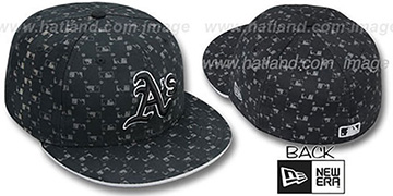 Athletics 'MLB FLOCKING' Black Fitted Hat by New Era