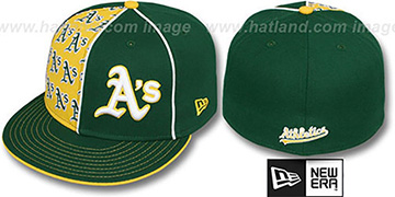 Athletics MULTIPLY Green-Gold Fitted Hat by New Era