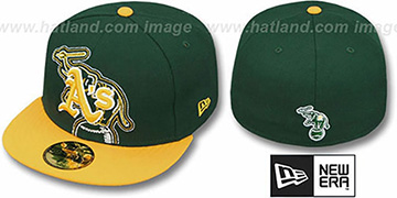 Athletics 'NEW MIXIN' Green-Gold Fitted Hat by New Era
