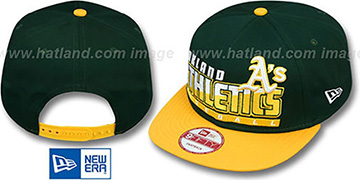 Athletics 'SLICE-N-DICE SNAPBACK' Green-Gold Hat by New Era