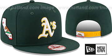 Athletics 'STATE STARE SNAPBACK' Green Hat by New Era