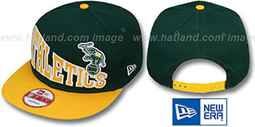 Athletics STOKED SNAPBACK Green-Gold Hat by New Era