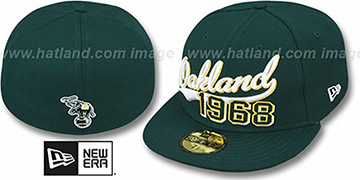 Athletics THE BEGINNING Green Fitted Hat by New Era