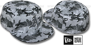 Athletics 'THUMBPRINT' Grey Fitted Hat by New Era