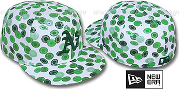 Athletics TOKENS White-Green Fitted Hat by New Era