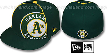 Athletics 'TRIBULATOR' Green Fitted Hat by New Era