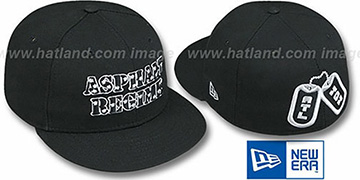 Atlanta Dog Tags 'ASPHALT REGIME' Black Fitted Hat by New Era