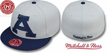 Auburn 2T XL-LOGO Grey-Navy Fitted Hat by Mitchell and Ness