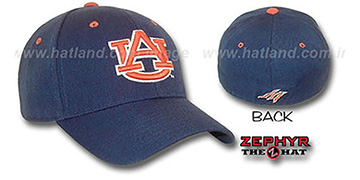 Auburn 'DH' Fitted Hat by ZEPHYR - navy