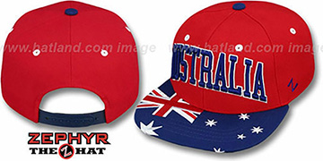 Australia SUPERSTAR SNAPBACK Red Hat by Zephyr