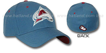 Avalanche A-FACE-OFF Avs Blue Fitted Hat by ZEPHYR