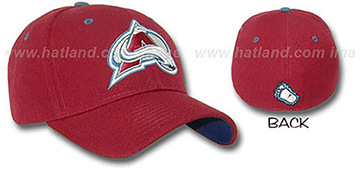 Avalanche A-FACE-OFF Burgundy Fitted Hat by ZEPHYR