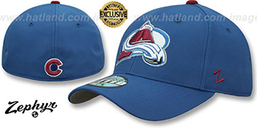Avalanche 'SHOOTOUT' Blue Fitted Hat by Zephyr