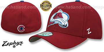 Avalanche 'SHOOTOUT' Burgundy Fitted Hat by Zephyr