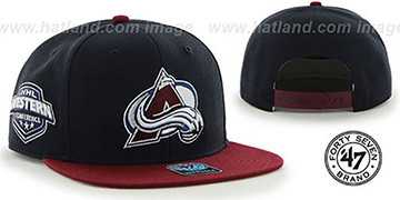 Avalanche 'SURE-SHOT SNAPBACK' Navy-Burgundy Hat by Twins 47 Brand