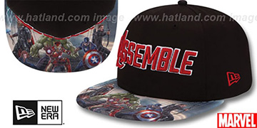 Avengers 'ASSEMBLED SNAPBACK' Black Hat by New Era