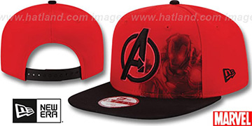 Avengers 'IRONMAN POP SNAPBACK' Red-Black Hat by New Era